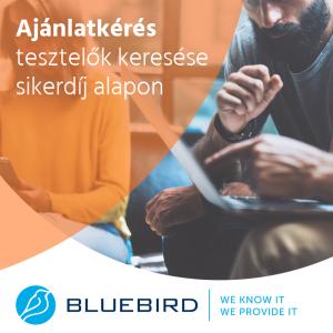 Tesztelők keresése sikerdíj alapon - Bluebird